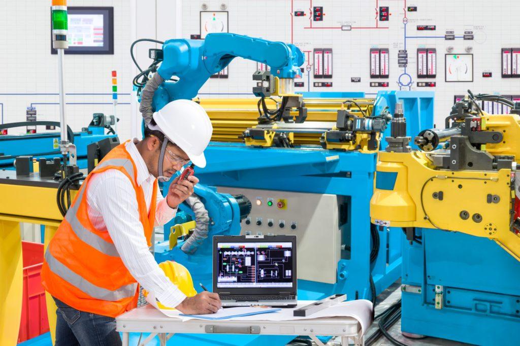 une usine robotisée
